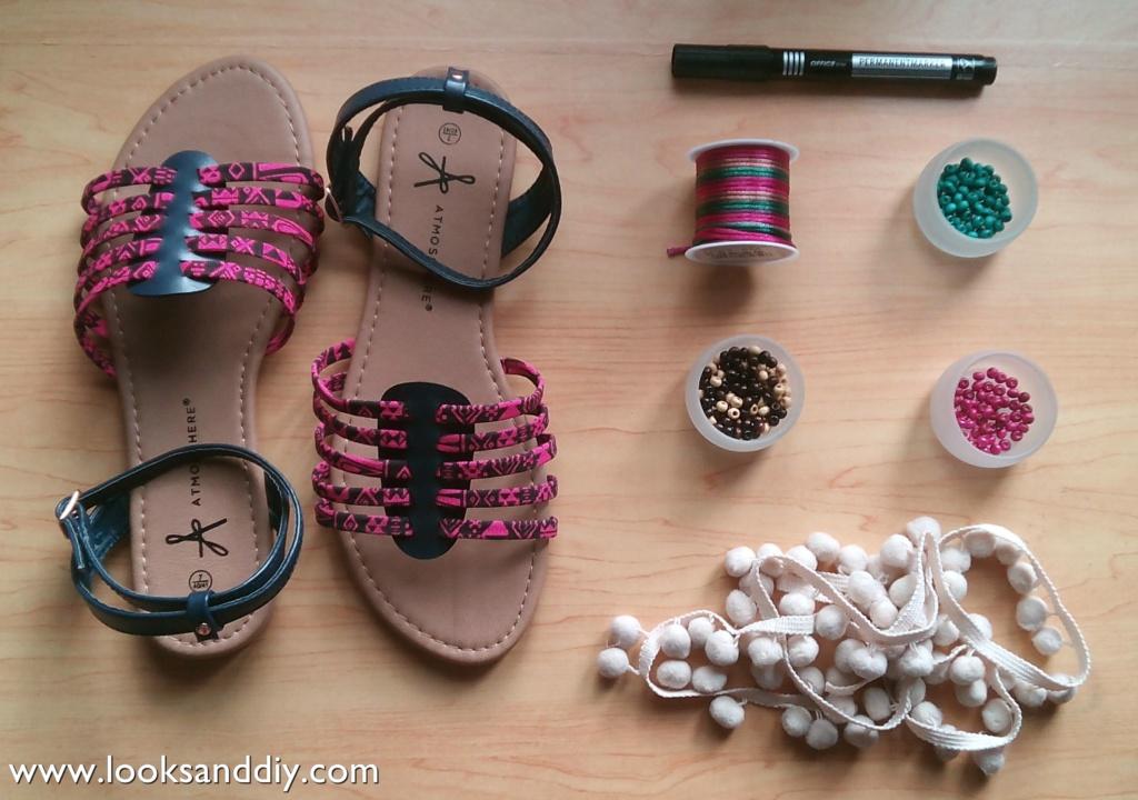 materiales sandalias boho