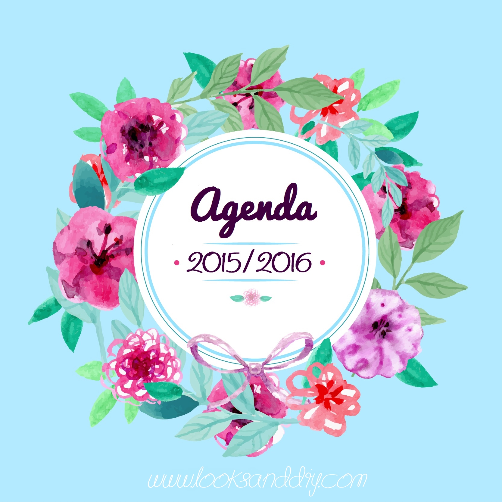 DIY ~ Agenda gratis imprimible 2015/16 ~ looks and diy