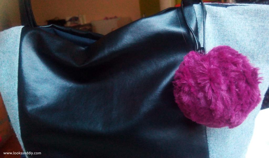 DIY llavero pompon y bolso inspirado en celine