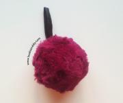 DIY pompon llavero pelo