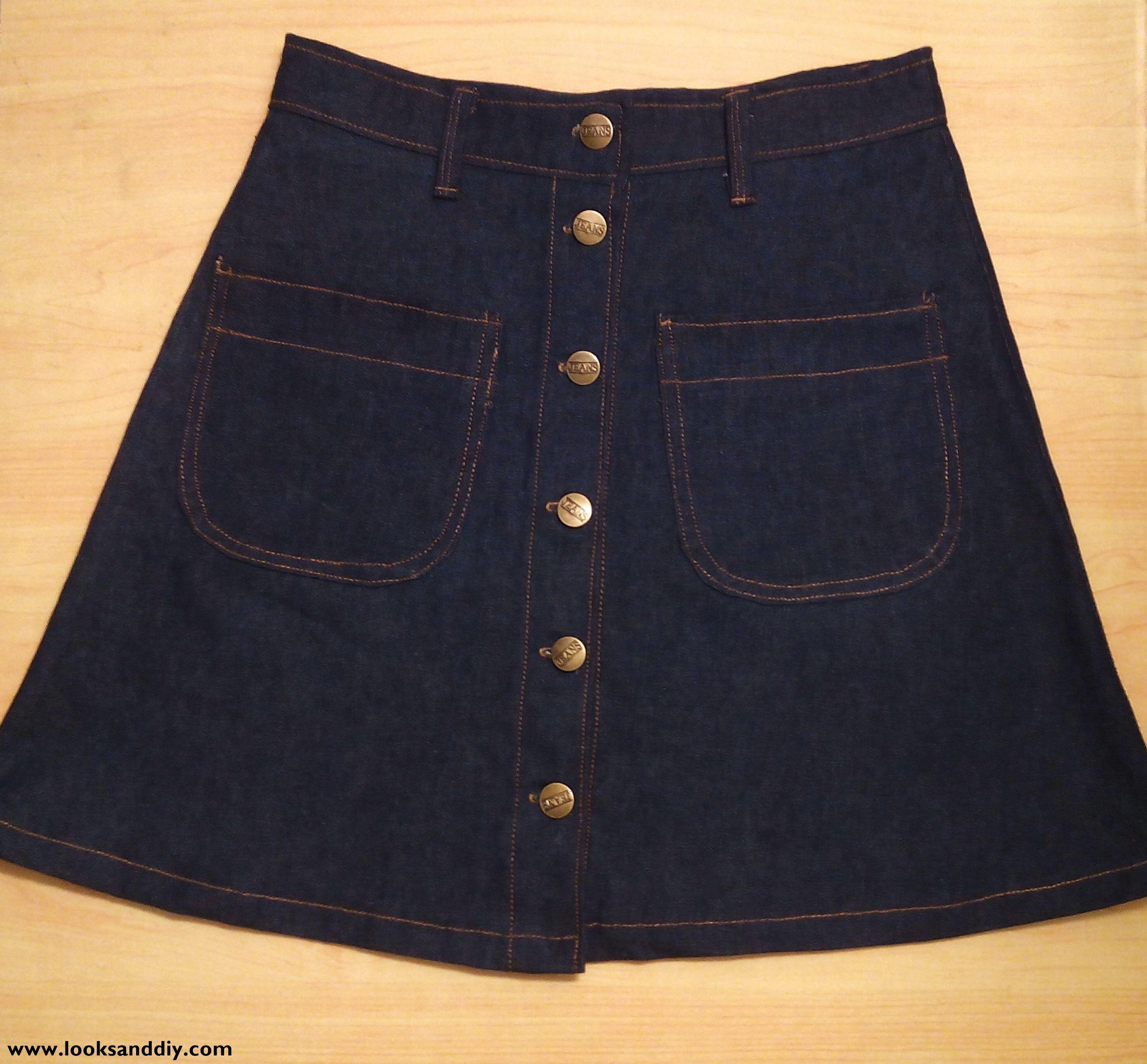 falda con botones DIY