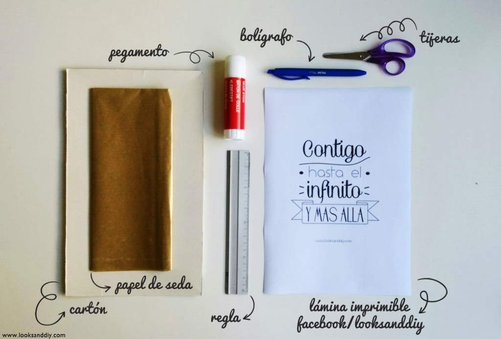 0 materiales como hacer un marco de cartón + lámina imprimible gratis