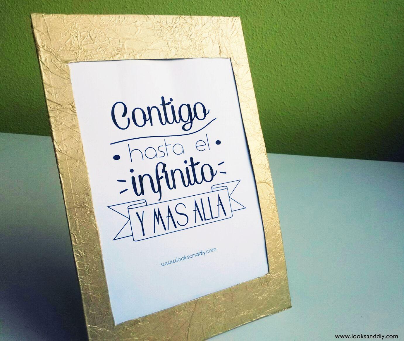 DIY~ Como hacer un marco con cartón + Lámina gratis ~ looks and diy