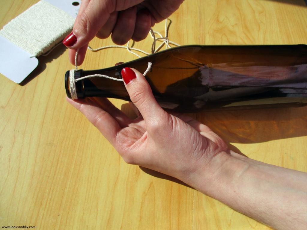 1 DIY Jarron con botella de vidrio