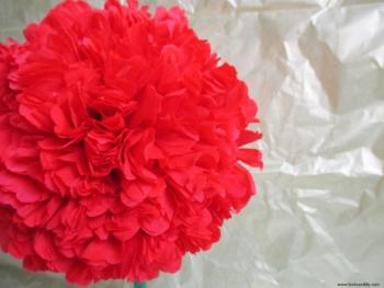 DIY topiario con flores de papel
