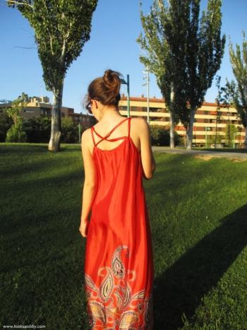 outfit vestido largo handmade