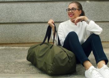 diy mochila para el gimnasi/ bolso de viaje