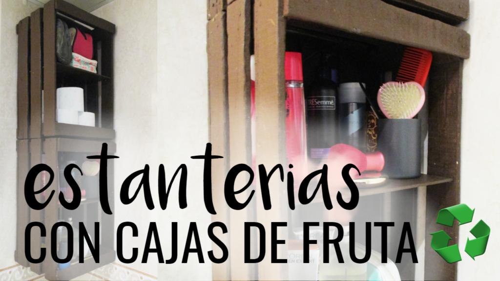 diy estanterías con cajas de fruta