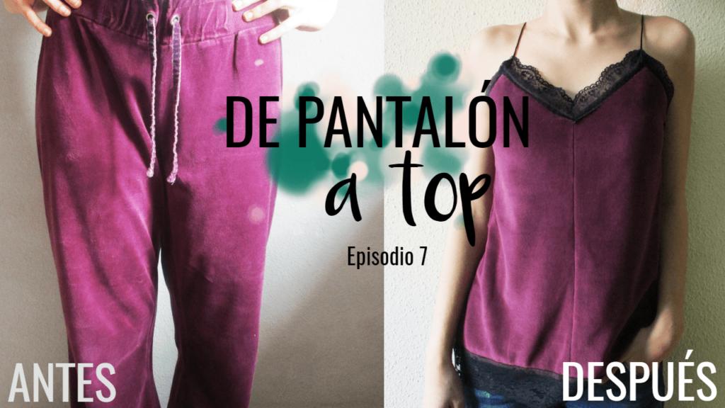DIY~ De pantalón a top. Transforma tu ropa. Looksanddiy.com