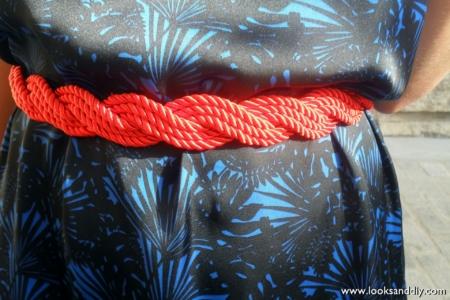 cinturón cordon de seda DIY