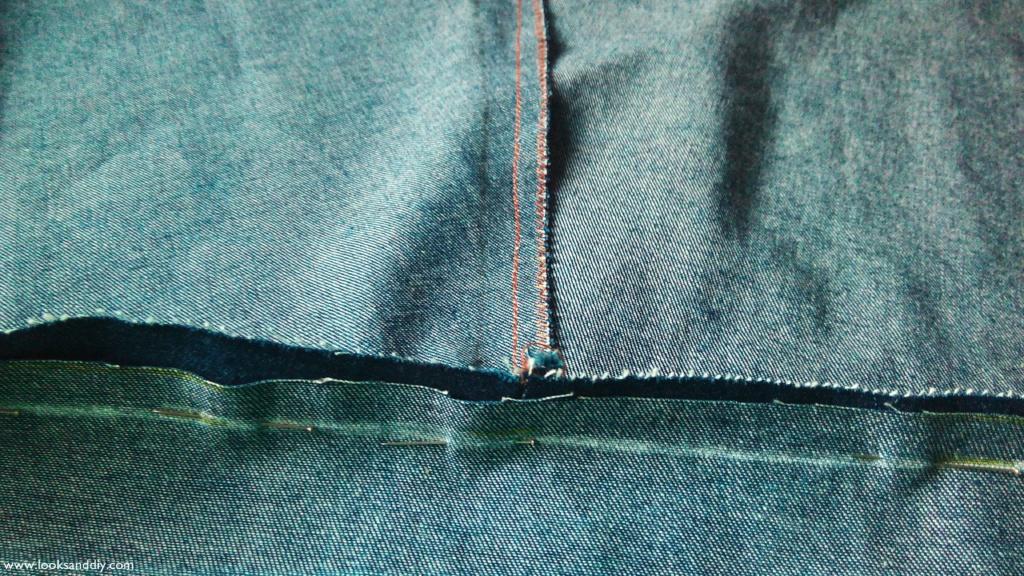 4 falda vaquera con botones