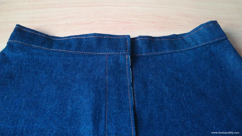 5 falda vaquera con botones