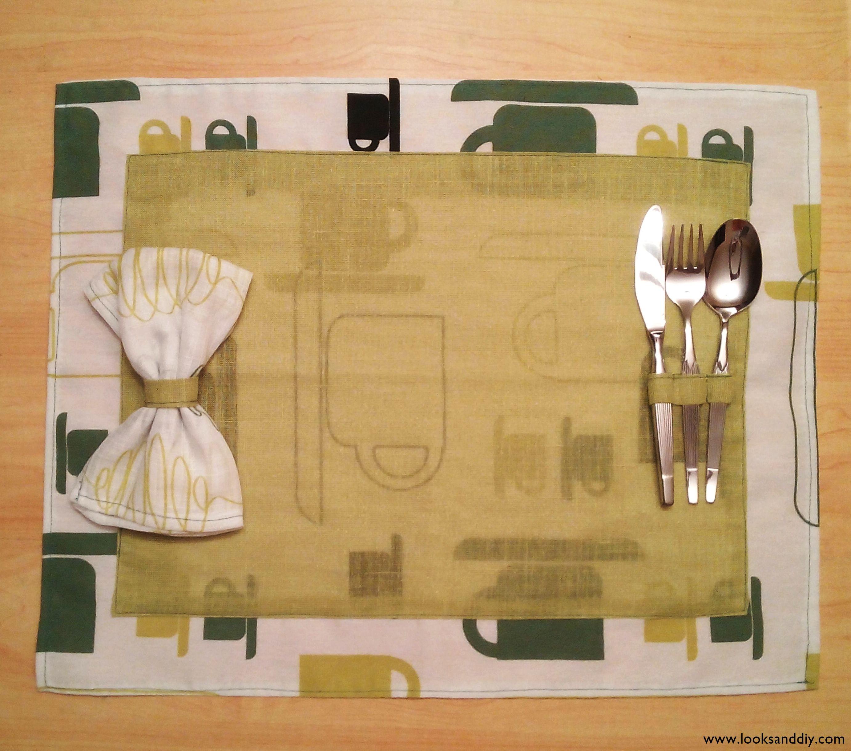 Diy c mo hacer manteles individuales de tela looks and diy for Manteles individuales para mesa