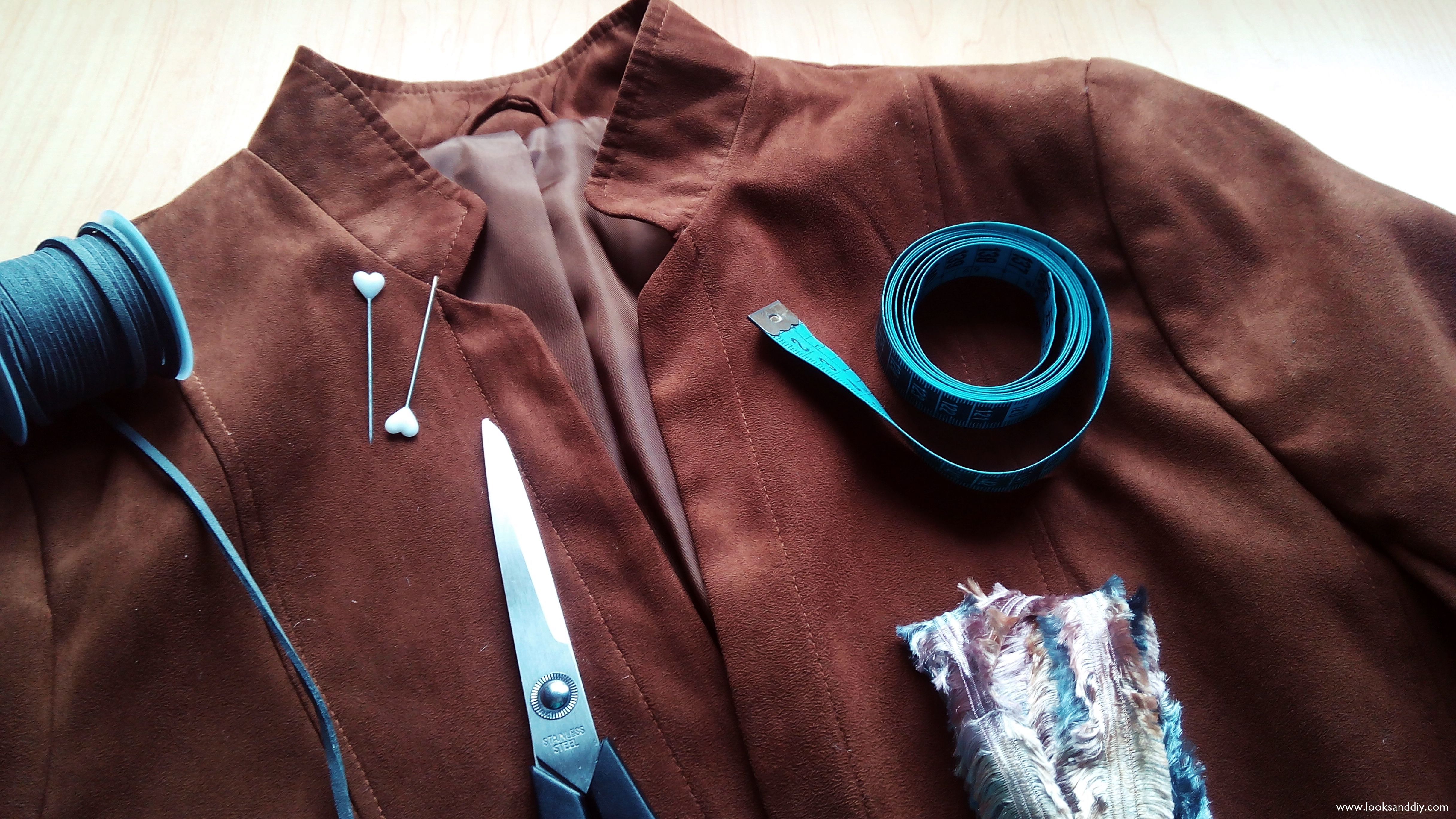 Customizar abrigo gris
