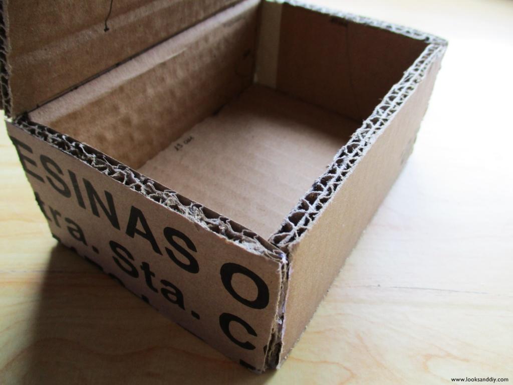 3 caja de cartón efecto cristal