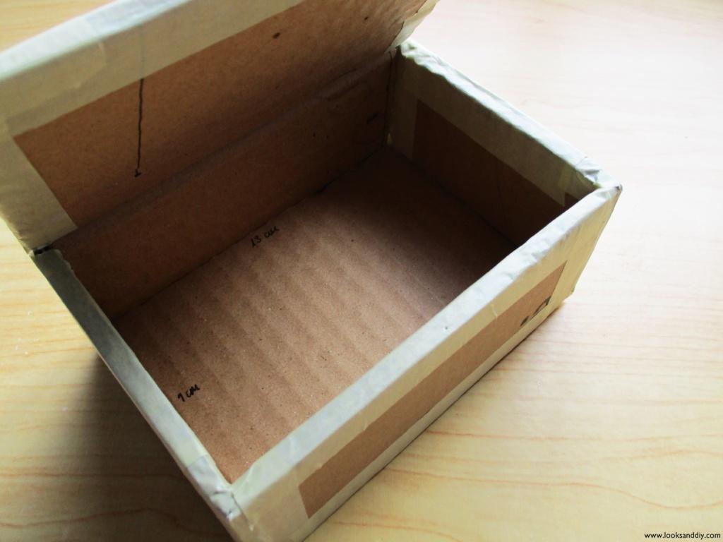 4 caja de cartón efecto cristal