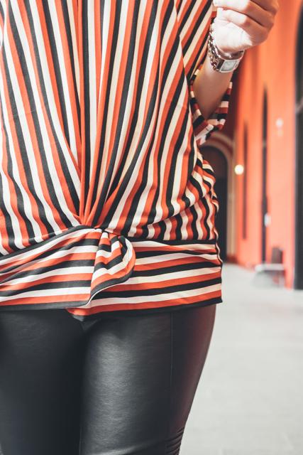 camiseta con nudo delantero, patrón, corte y confección paso a paso. Blog looks and diy